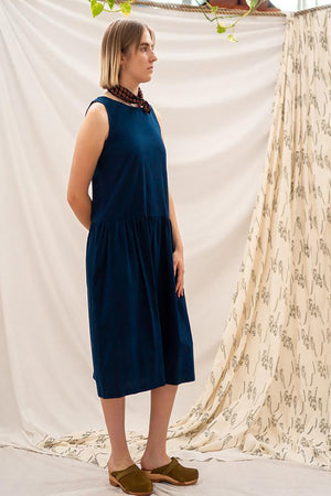 Drop Waist Dress - Indigo