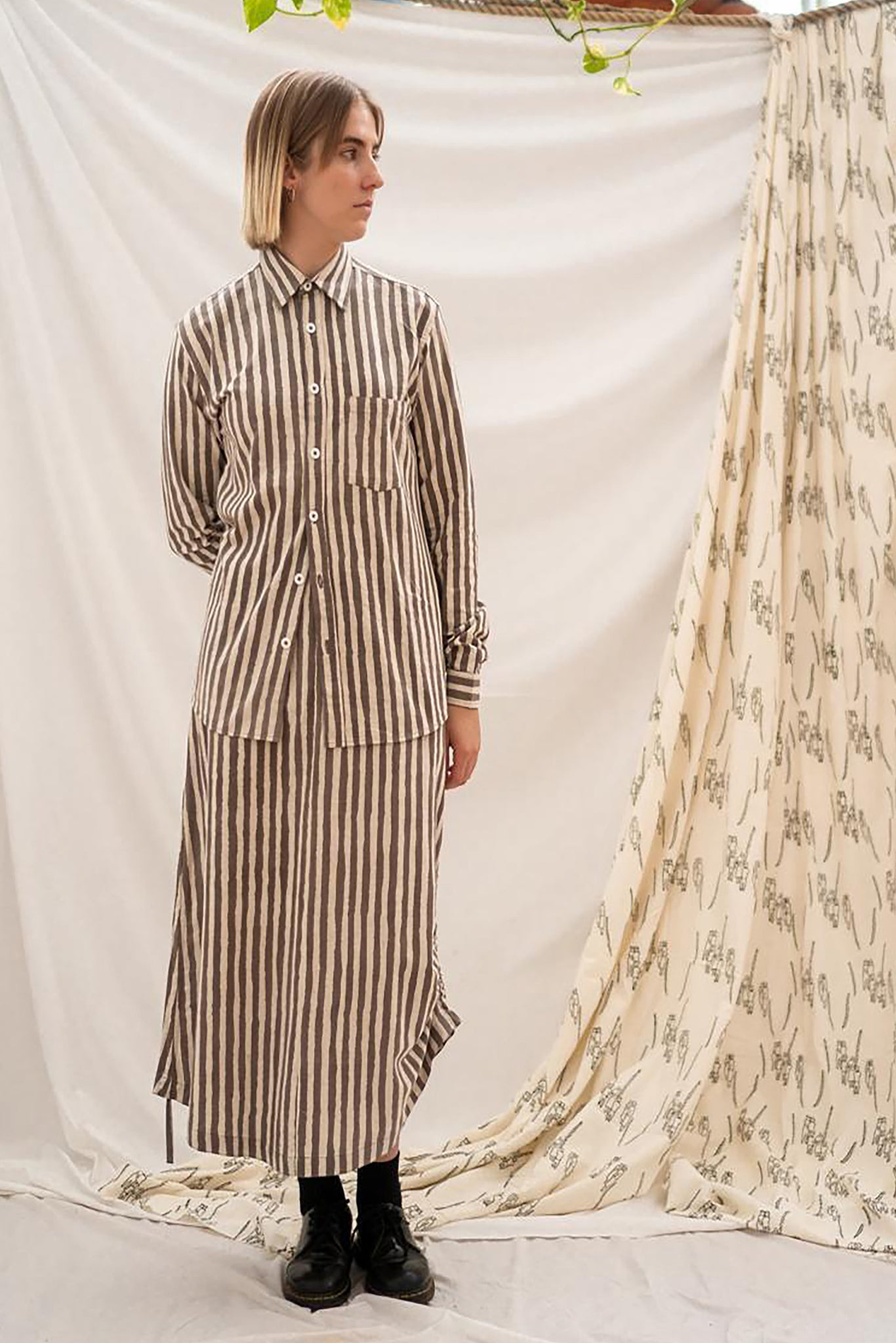 Pull Long Skirt - Kashish Stripe