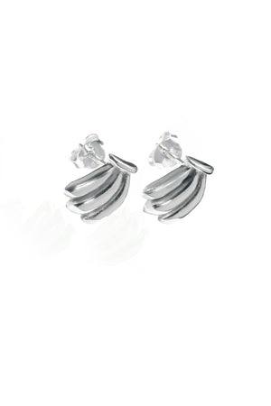 You drive me Bananas Earrings (Silver)