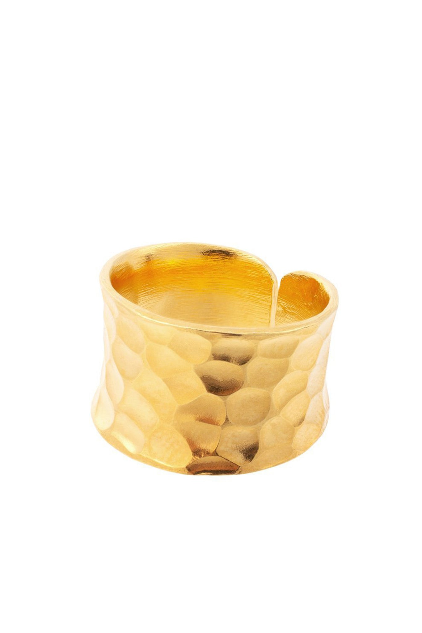 NUDO GOLD SHORT HAMMERED RING (adjustable)