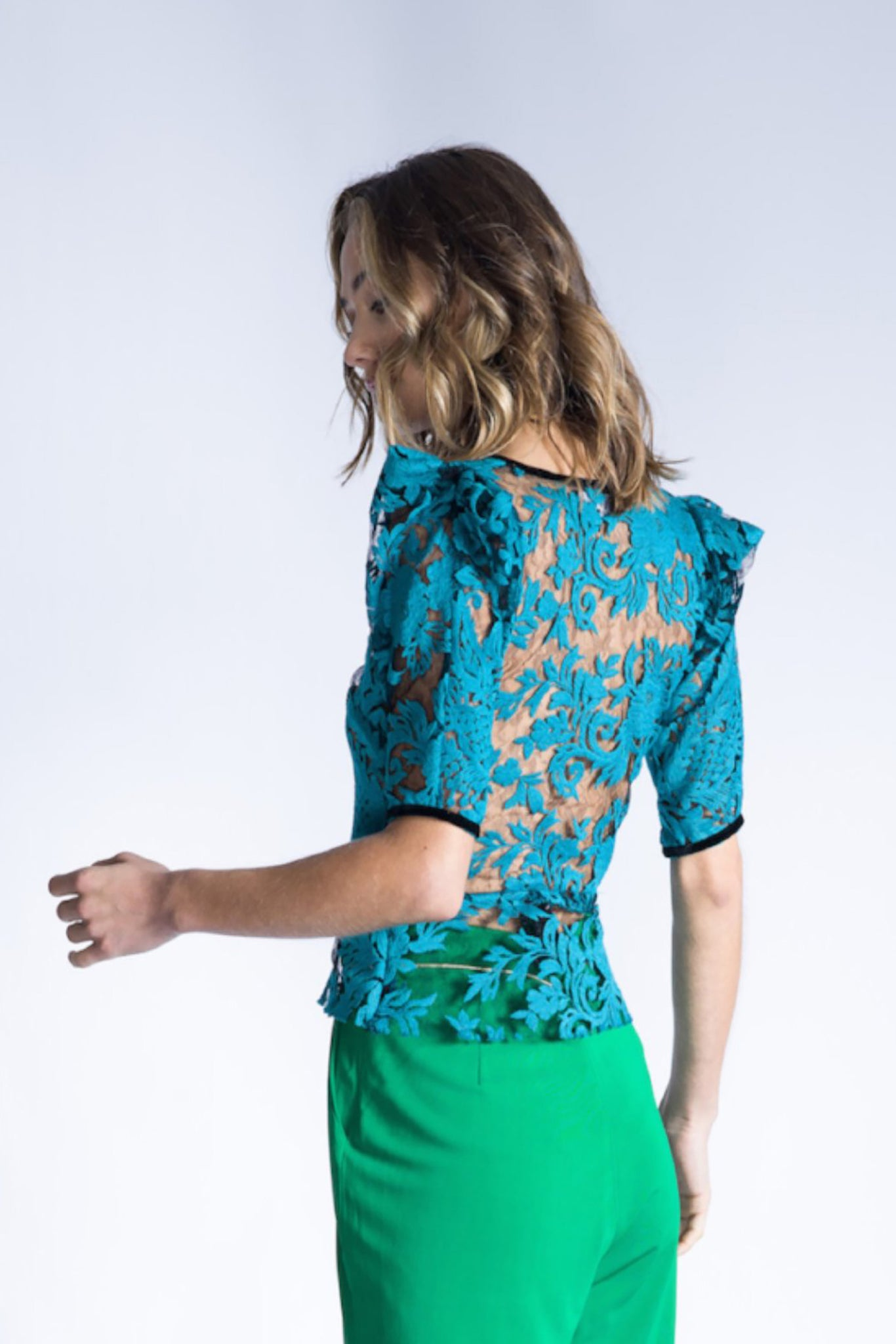 RAVEN Embroidered Lace Top