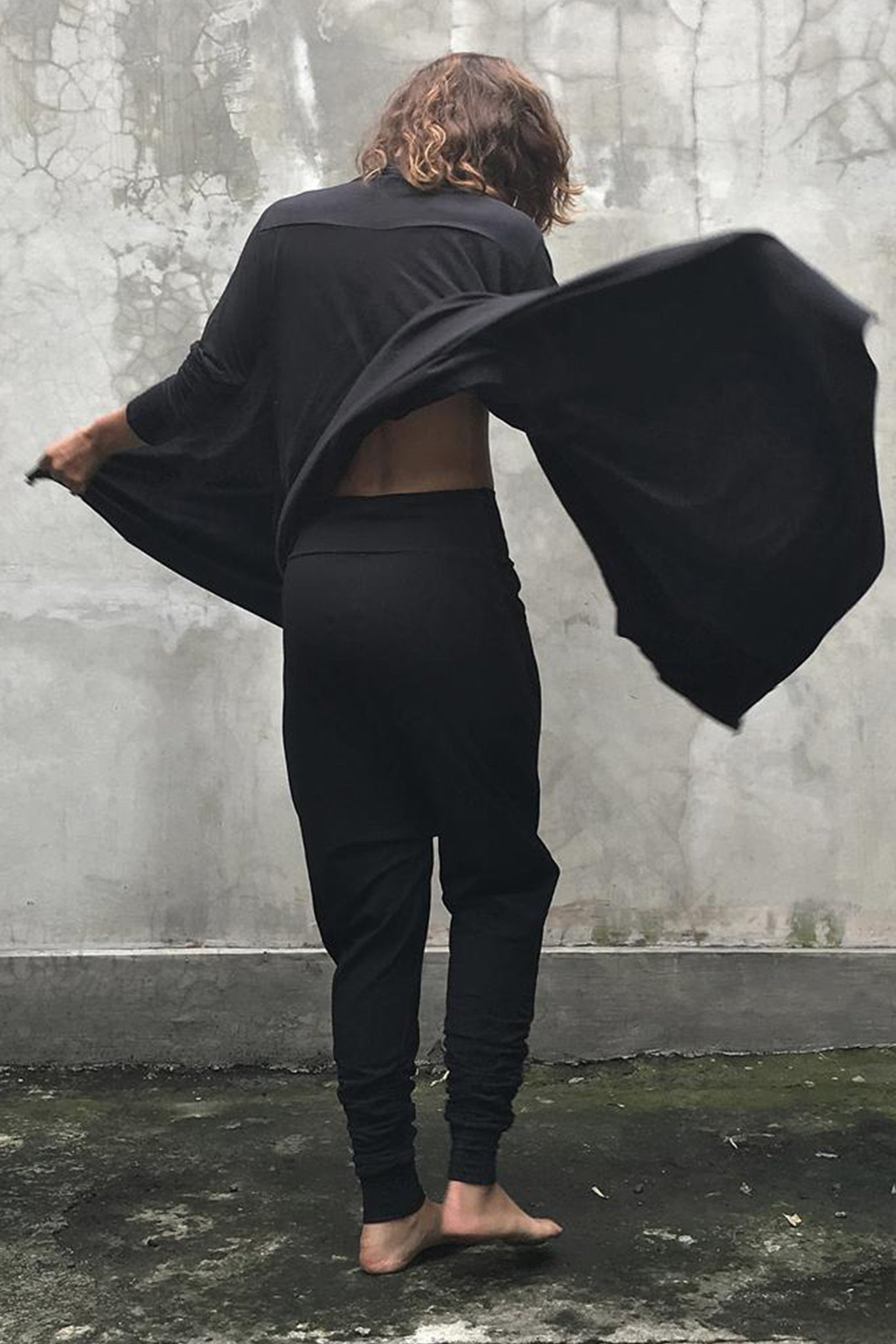 Black Draped Cardigan Modal Lycra