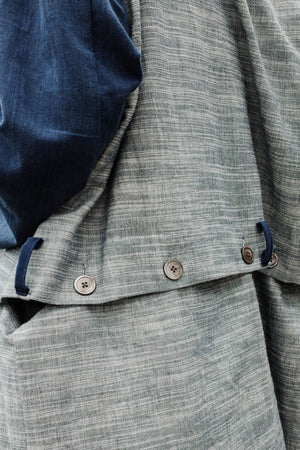 Cocoon Convertible Jacket - Ripple/Indigo