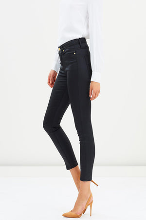 The Skinny 7/8 Coated Denim Jean