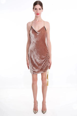 JORDAN Silk Velvet Slip Dress