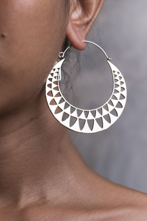 Triangle Hoops Silver