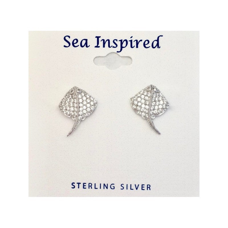 Sterling Silver Ray Post Earrings