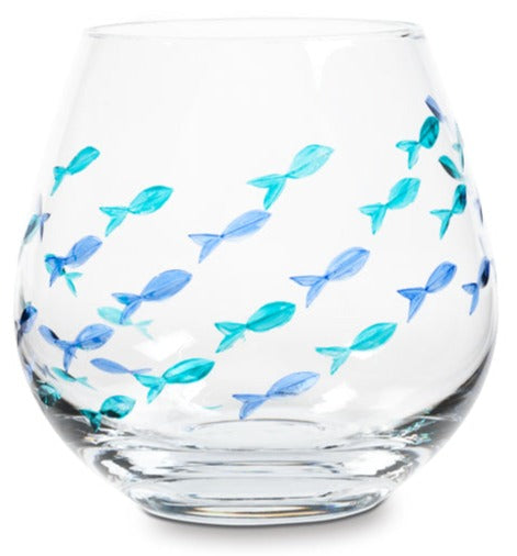 Cut Fish Stemless Goblet