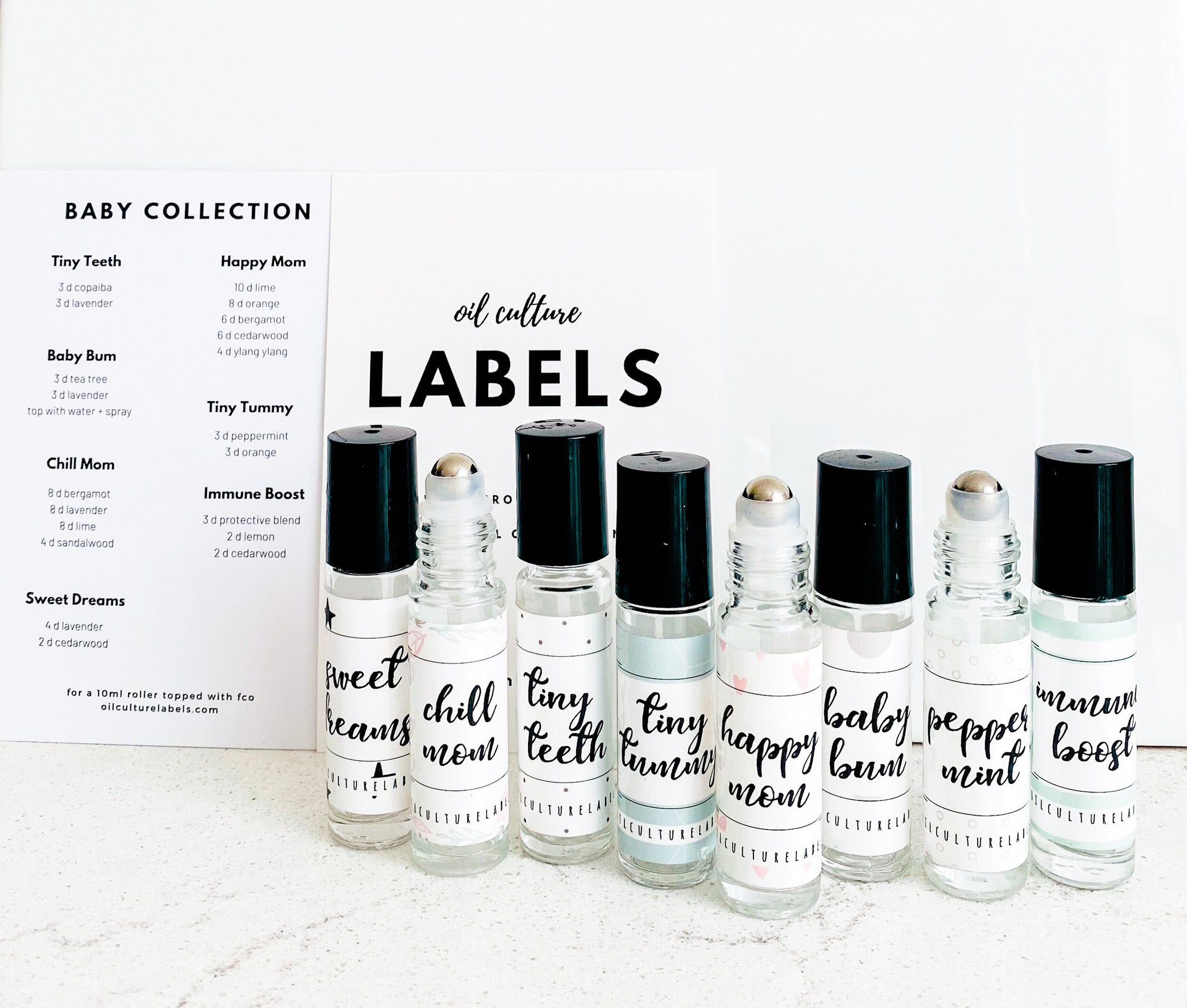 Baby Label Set - Essential Oil Magic