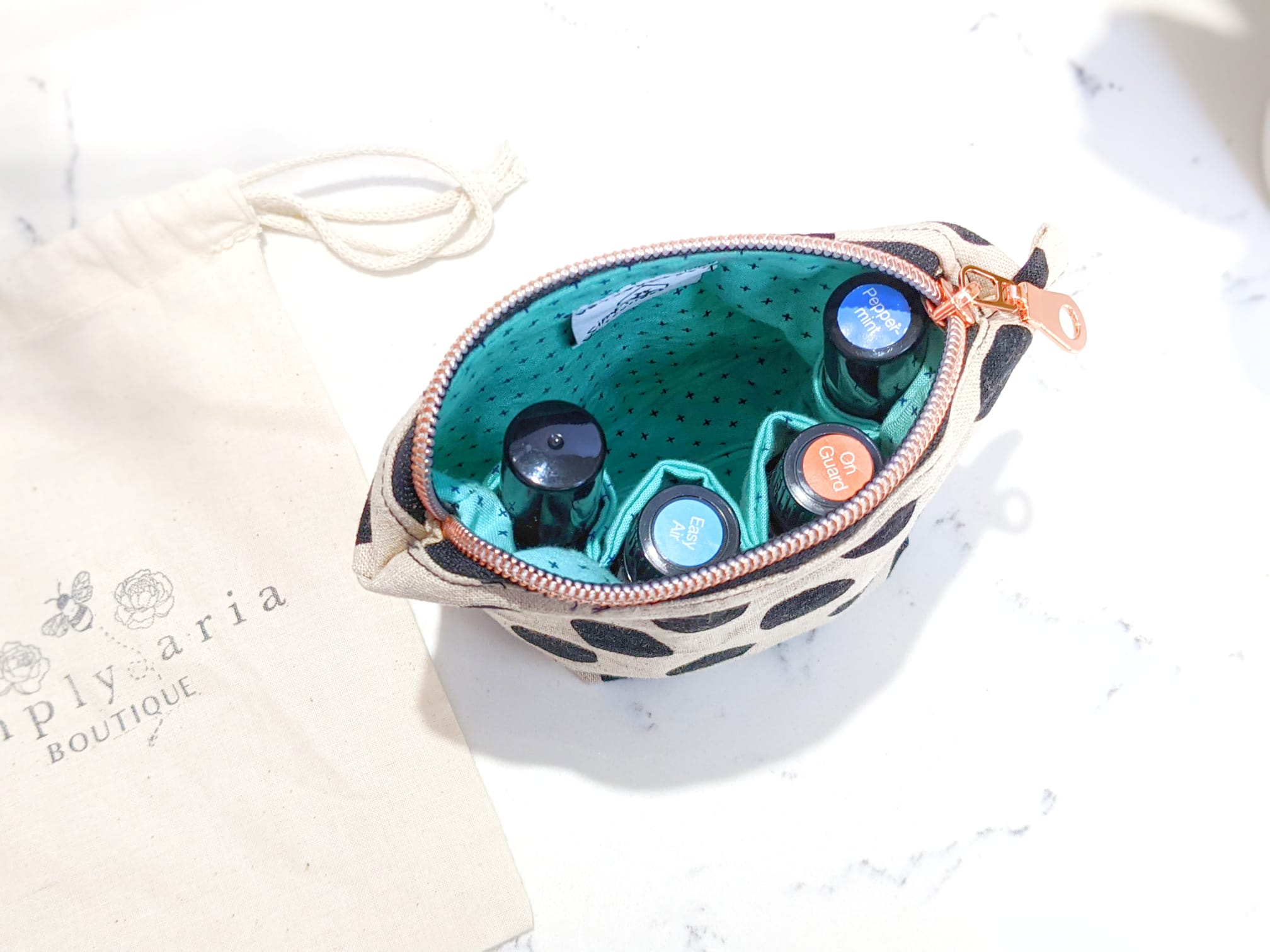 Simply Aria Boutique - Dot Travel Bag - Essential Oil Magic