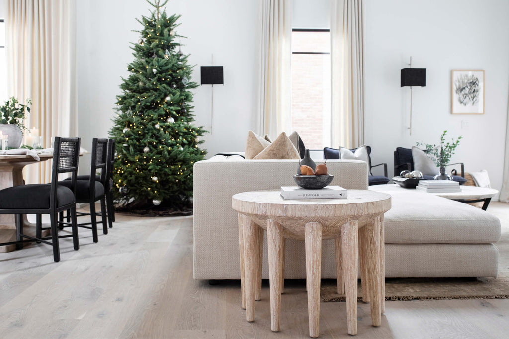 Mayker Interiors - Holiday Design and Living Room Decor at Proby Home