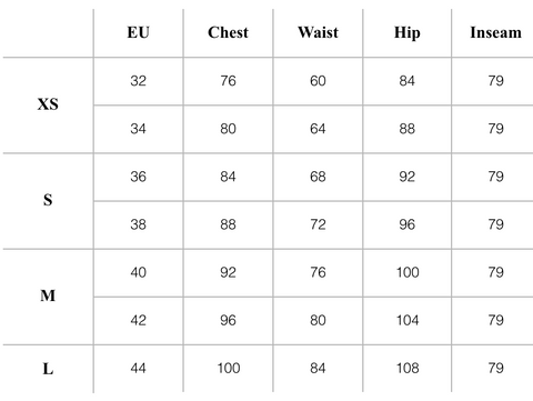 And Other Stories Sizing Chart