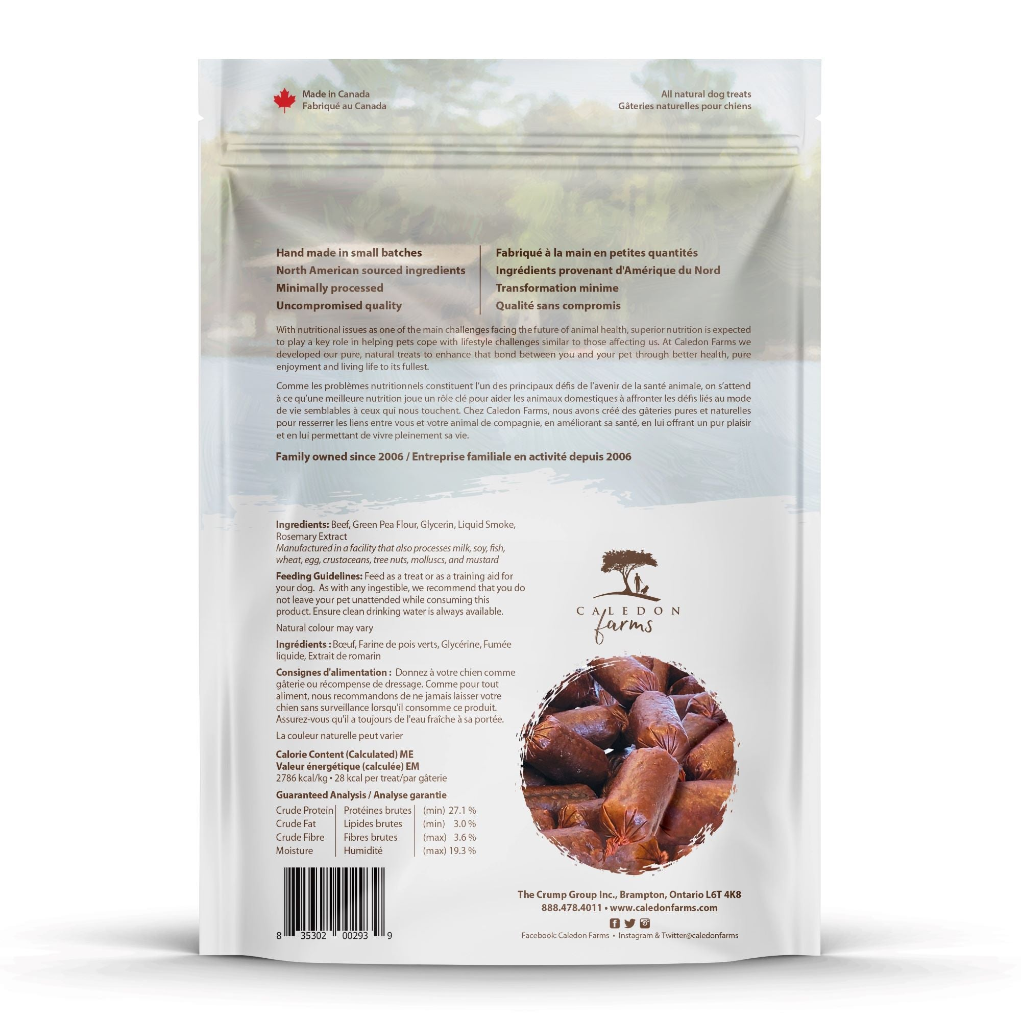 Baked Beef Liver Dog Treats Bag Back