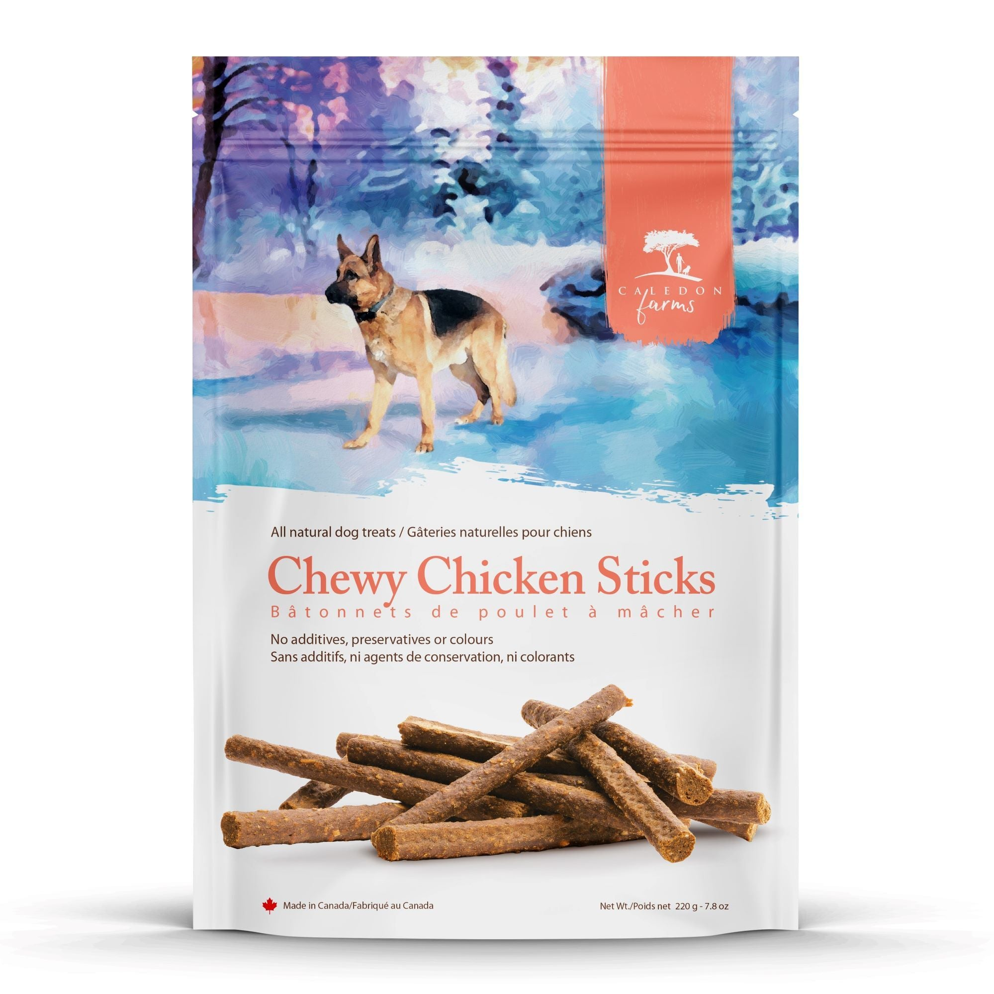 Chewy Chicken Sticks Dog Treats Bag Front