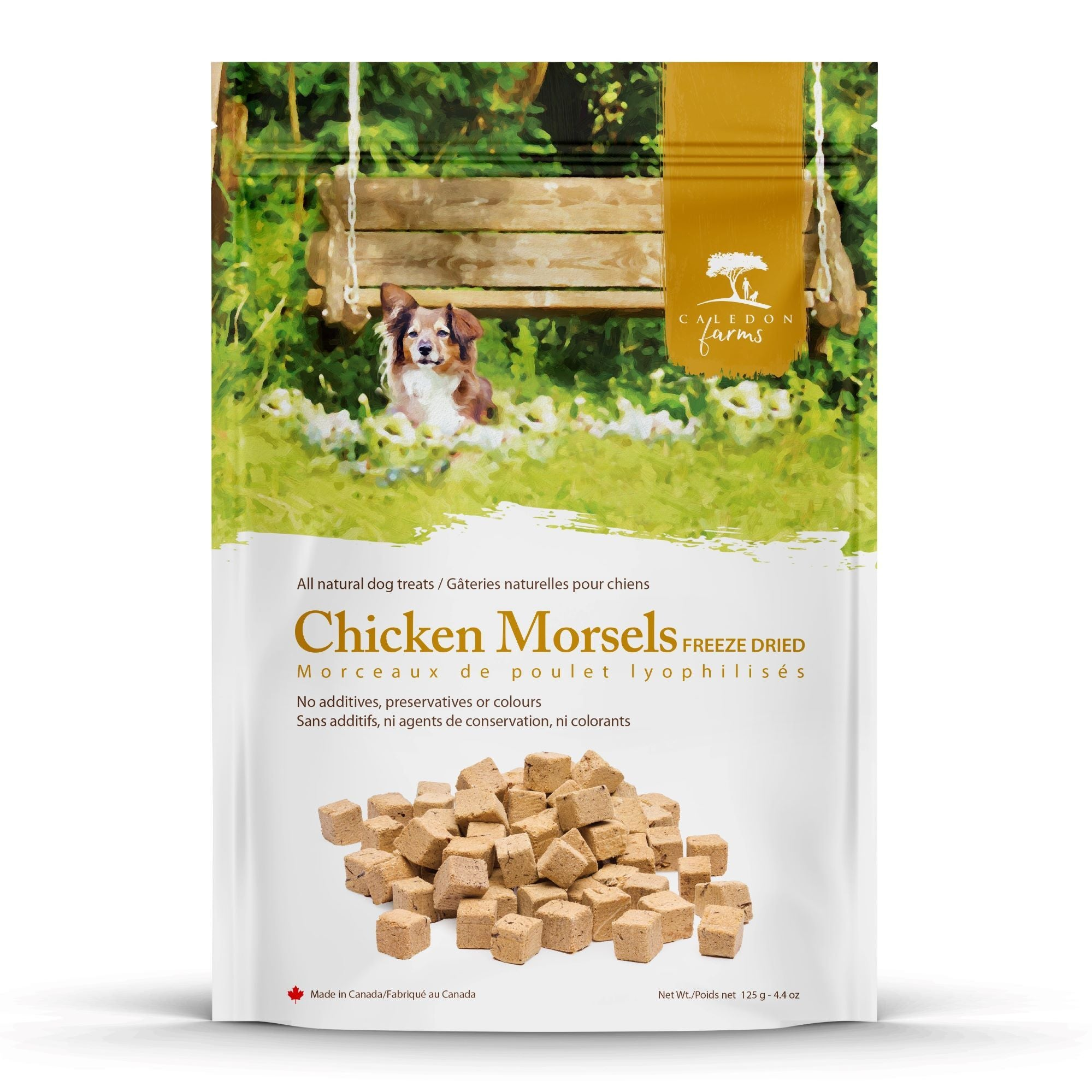 Chicken Morsels Dog Treats Bag Front