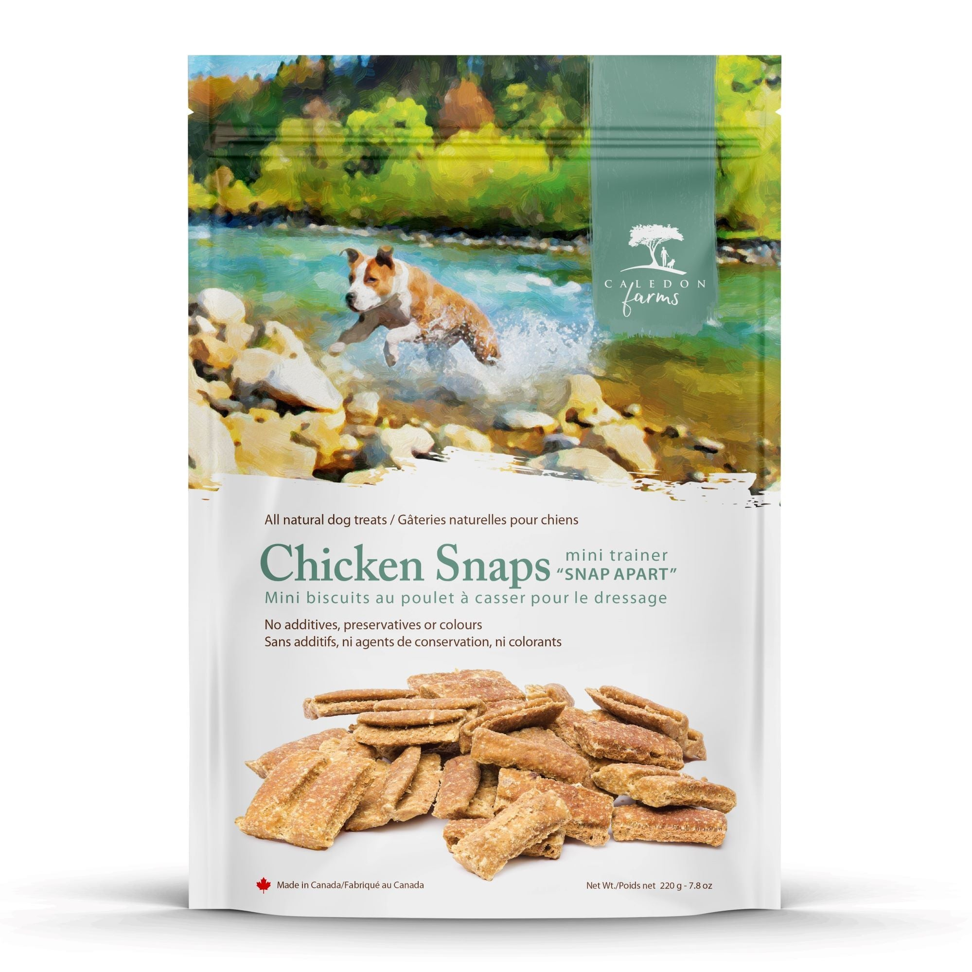 Chicken Snaps Mini Trainers Dog Treats Bag Front