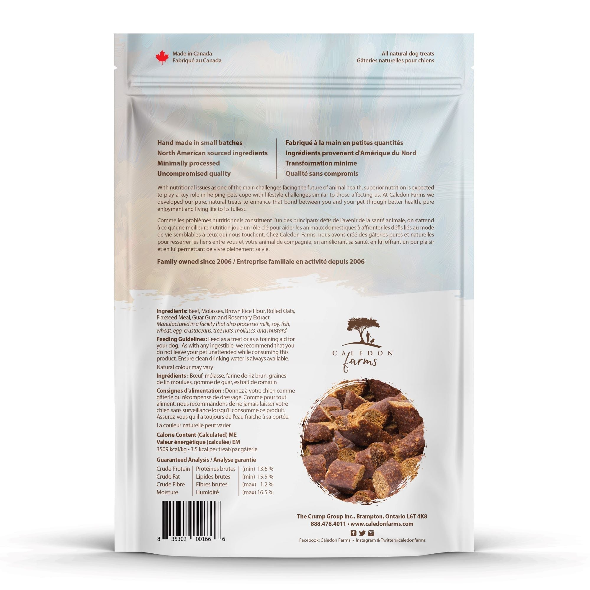 Semi Moist Beef Mini Trainers Dog Treats Back Back