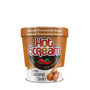 Pint of HotScream Ice Cream Salted Caramel