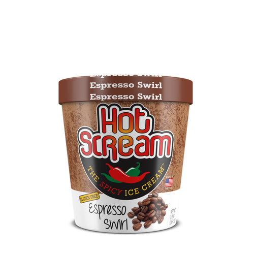 Pint of HotScream Ice Cream Espresso Swirl