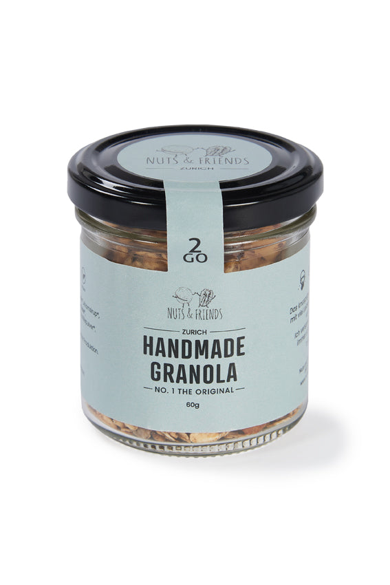 Handmade Granola Nuts & Friends 2GO NO. 1 THE ORIGINAL, 60g, Bio