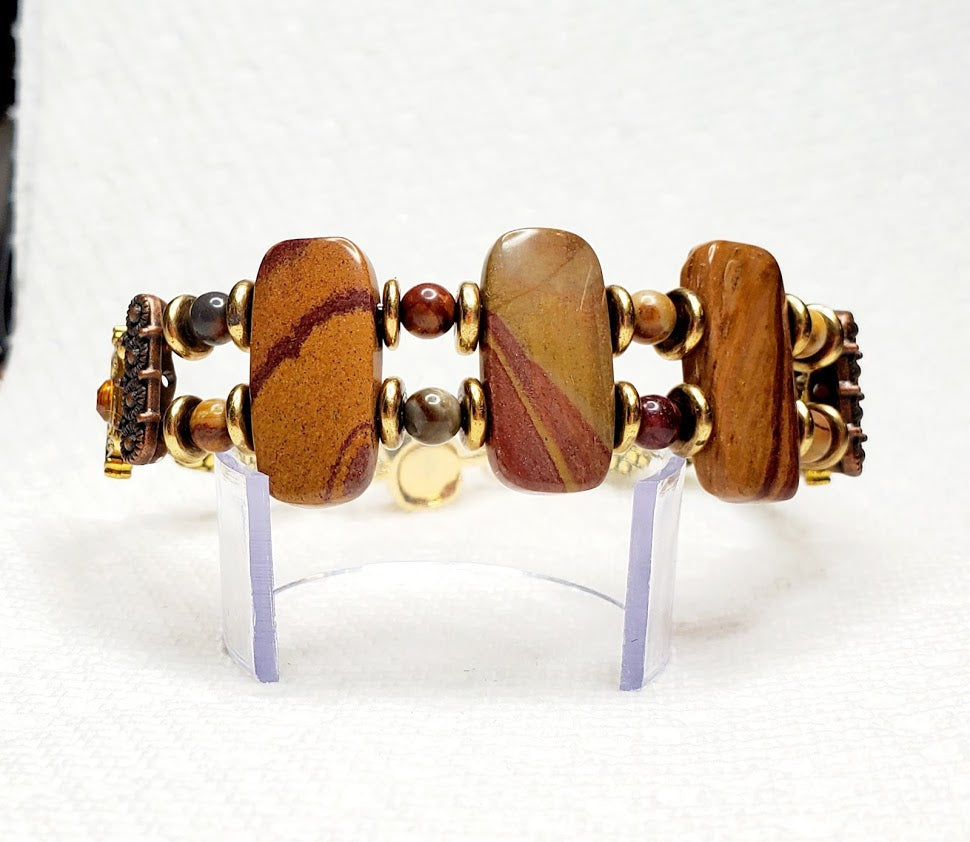 Double Drilled Natural Stone Bracelets