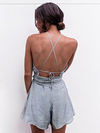 Cali Open Back Playsuit - 2 Love One