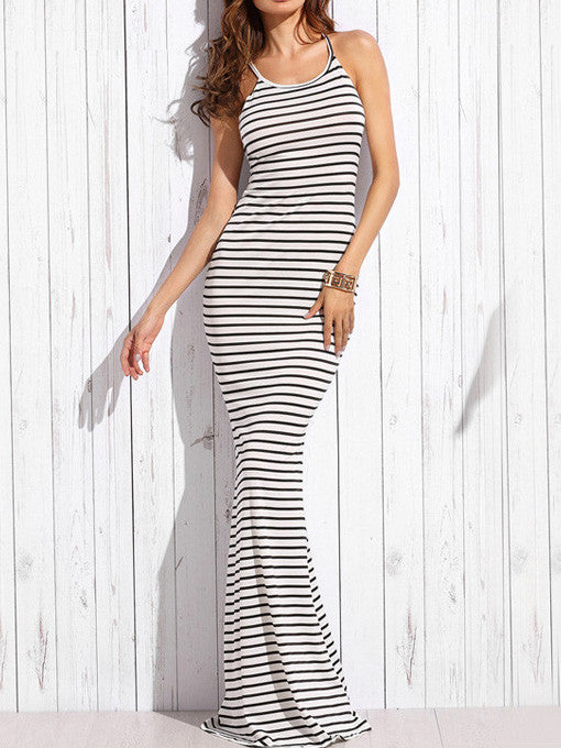 Coco Striped Long Maxi Dress - 2 Love One