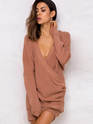 Devanie V Neck Wrap Knit Top - 2 Love One