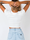 EL BASICO CROPPED TEE WHITE - 2 Love One