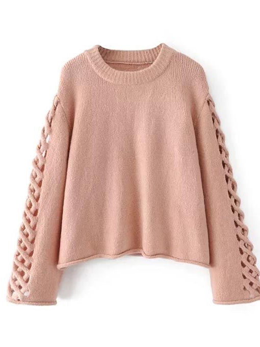 f86995a9dbb71f Evangelie Hollow Out Knit Sweater - 2 Love One