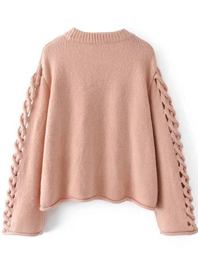 Evangelie Hollow Out Knit Sweater - 2 Love One