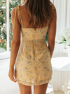 Floral Print Tie Strap Mini Dress - 2 Love One