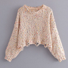 Funfetti Destroyed Hem Knit Top - 2 Love One