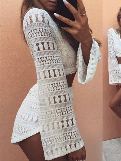 Hadley White Detailed Boho Two-Piece - 2 Love One