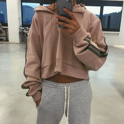 Hailey Pullover Cropped Sweatshirt - 2 Love One