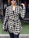 Houndstooth Long Sleeve Cardigan - 2 Love One
