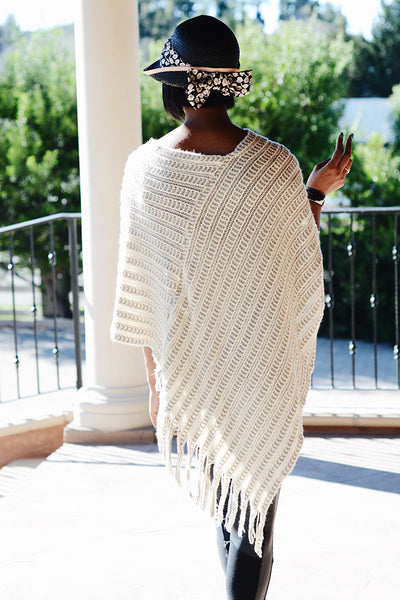 Fringe Knit Poncho - 2 Love One