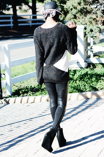 Sparkle Me Black & White Sweater - 2 Love One