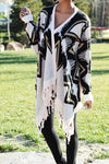 Tribal-Inspired Asymmetrical Cardigan - 2 Love One