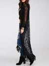 Jana Long Lace Kimono in Black - 2 Love One