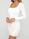 Jordyn Long Sleeve Square Neck Top - 2 Love One