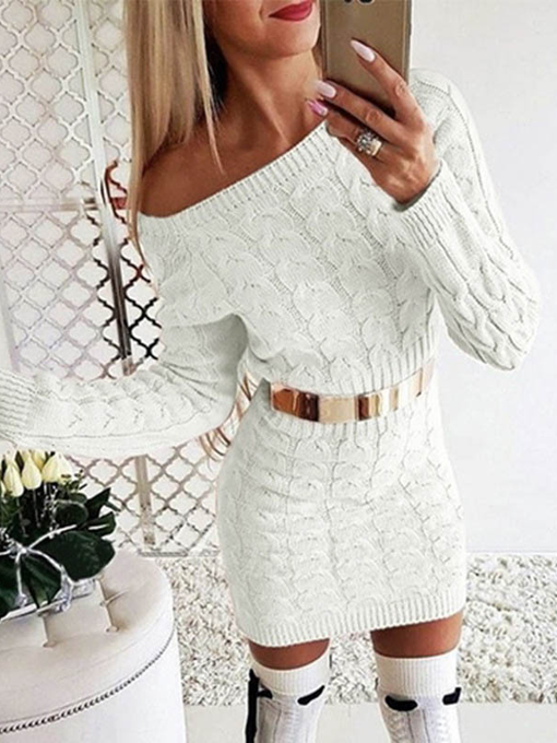 Kaia Warm Knit Sweater Dress