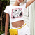 Kally Streetwear Printed Crop Top - 2 Love One