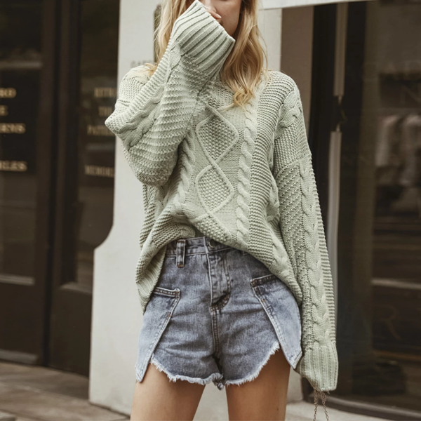 """Kalyani"" Vintage Cable Knit Sweater"