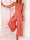 Kara V Neck Back Tied Jumpsuit - 2 Love One