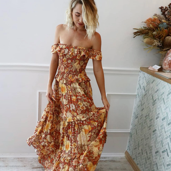 Kimberley Off Shoulder Maxi Dress
