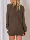 Lace Up Oversize Knit in Army Green - 2 Love One