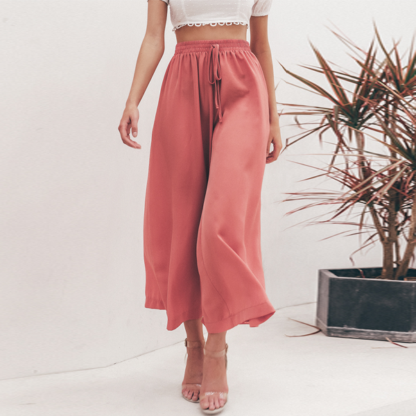 Lacey Relaxed Wide-Leg Pant