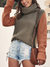 Mellow Contrast Sleeve Turtleneck Knit Sweater