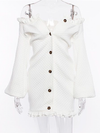 Molly White Ruffles Dress - 2 Love One